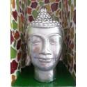 Tête de Bouddha chromée