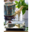 Giraffe plastique bombée en chrome or