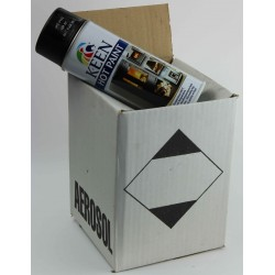 Peinture haute température en bombe noir mat- Carton de 4 Aérosols