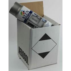 Peinture Frigo - Electroménager - Carton de 4 bombes de peinture frigo gris métallisé