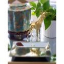 Giraffe plastique bombée en chrome or