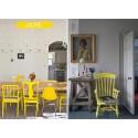 Chaises customisées jaune