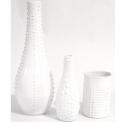 Déco sur pots, vases, bombe de peinture blanc