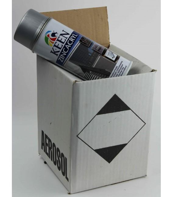 Galvanisation à froid zinc satin - carton de 4 bombes de peinture galva