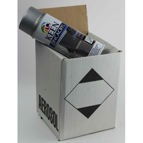Galvanisation à froid - carton de 4 bombes de peinture galva