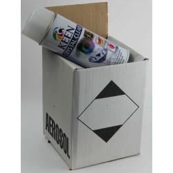 Vernis mat / Vernis brillant qualité professionnelle - carton de 4 bombes de vernis